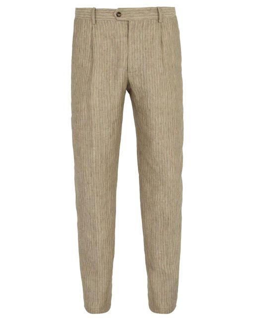Éditions MR Natural Francois Striped Linen Trousers for men