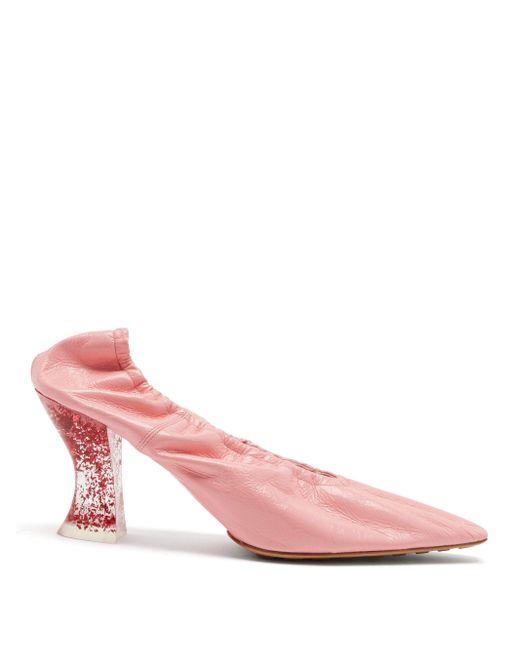 Bottega Veneta アーモンド レザーパンプス Pink