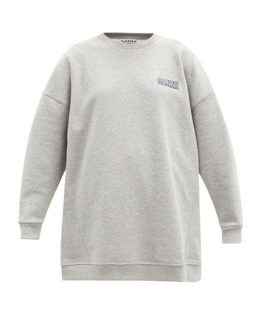 Ganni ソフトウェア リサイクルコットンブレンド スウェットシャツ Gray