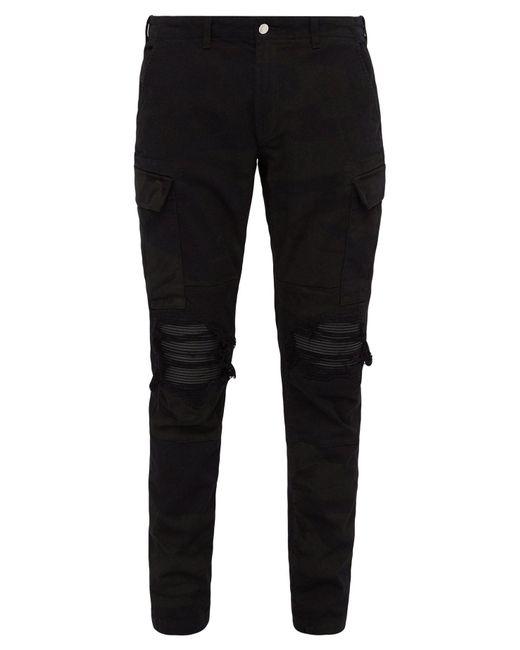 Amiri Black Mx1 Distressed Camouflage Print Slim Leg Jeans for men