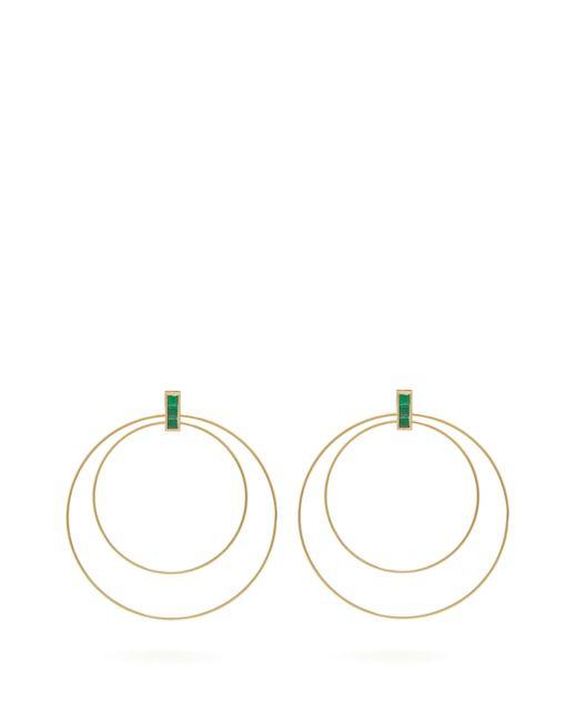 Ileana Makri - Metallic Double Orbit Emerald & 18kt Gold Earrings - Lyst