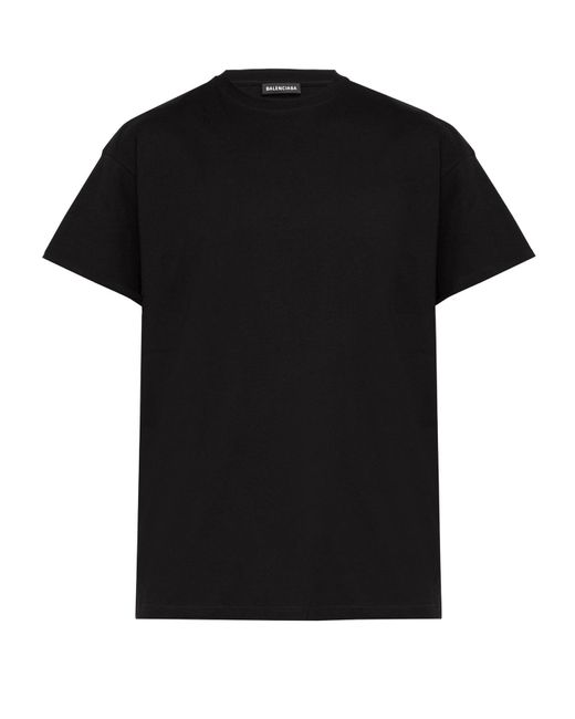 Balenciaga Black Gender Neutral-print T-shirt for men