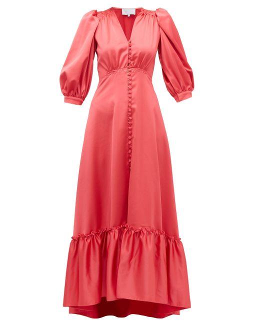 Luisa Beccaria Pink Button-up Silk Dress