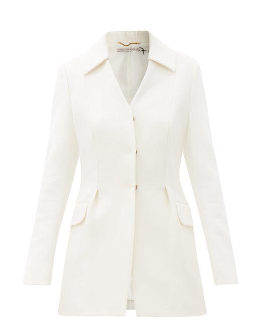 Emilia Wickstead エイダン ウールクレープ シングルジャケット White