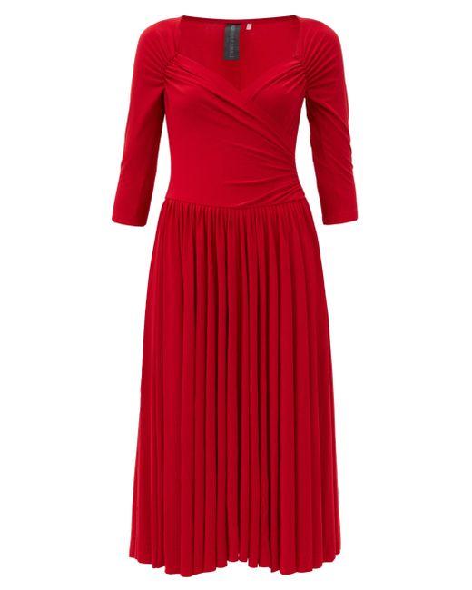 Norma Kamali スウィートハートネック ジャージードレス? Red