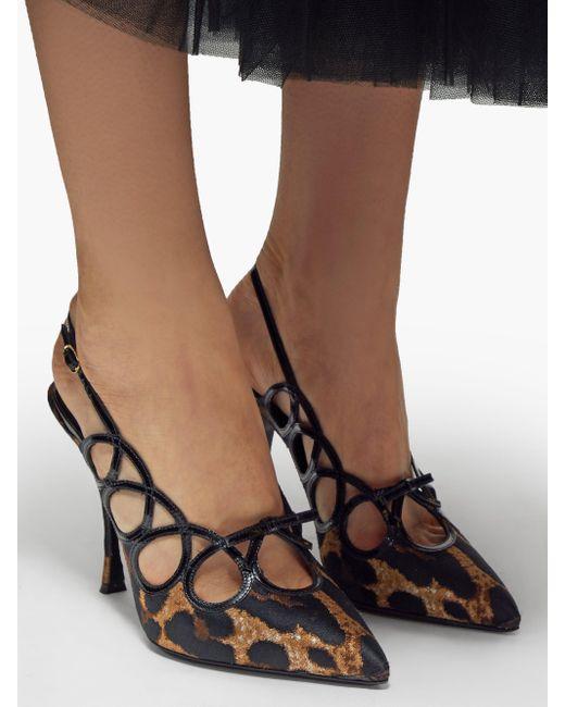 Dolce & Gabbana Lori レオパード スリングバックパンプス Multicolor
