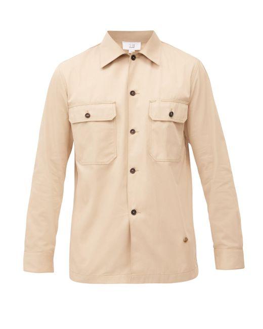 メンズ Dunhill コットンツイル オーバーシャツ Natural