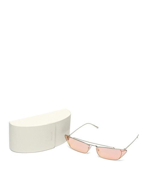7a25939339 ... Prada - Pink Ultravox Rectangular Frame Metal Sunglasses - Lyst ...