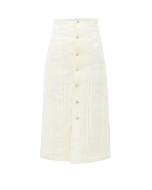 Edward Crutchley スワロフスキークリスタル ウールスカート Multicolor