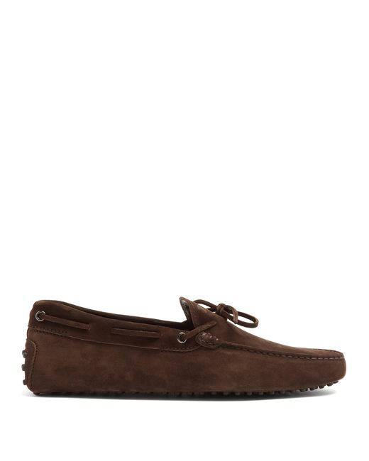 Tod's - Brown Mocassins en daim Gommino for Men - Lyst