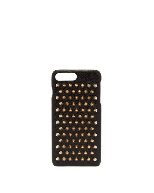 Christian Louboutin Loubiphone レザー Iphone 7&8 Plus ケース Black