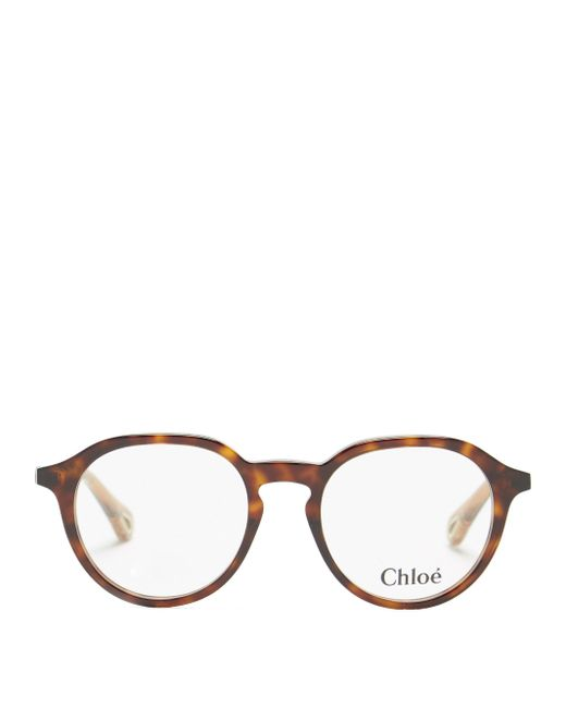 Chloé Chloé バイオアセテート ラウンドメガネ Multicolor
