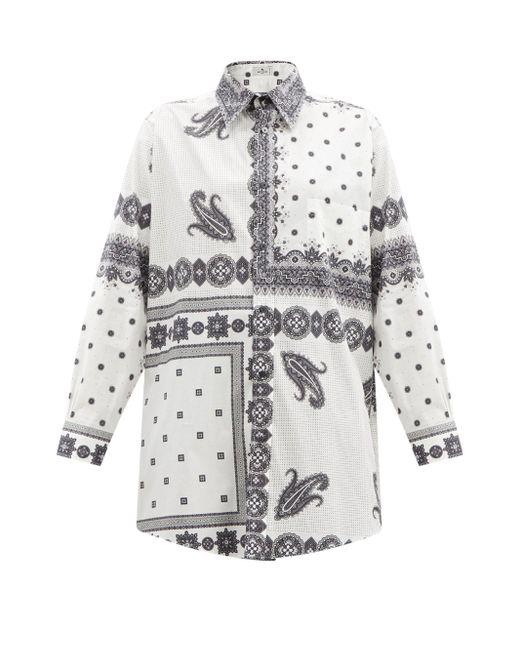 Etro オーバーサイズ ペイズリー コットンポプリンシャツ Multicolor