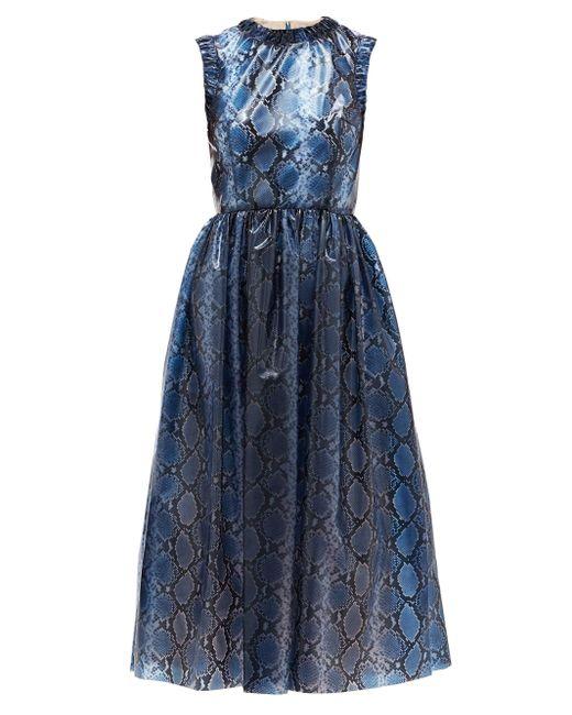 Emilia Wickstead マイディー パイソン ドレス Blue