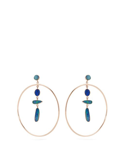 Jacquie Aiche | Blue Opal & Rose-gold Earrings | Lyst