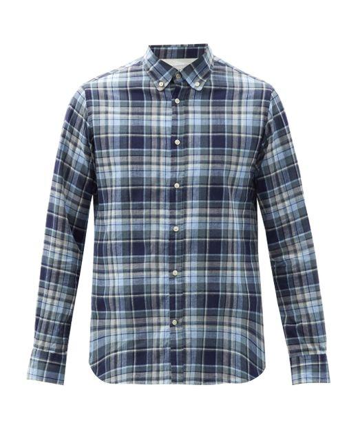 メンズ Officine Generale Officine Générale アンティム チェック コットンツイルシャツ Blue