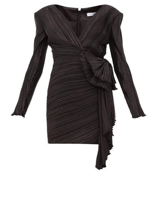 Givenchy リボンディテール プリーツ ミニドレス Black