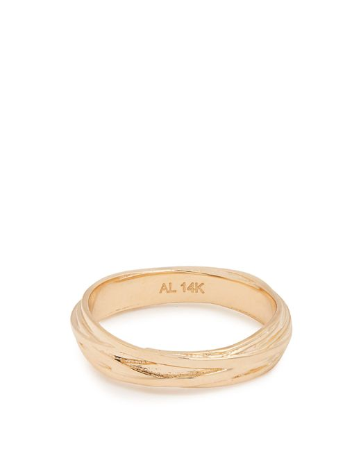 Alison Lou - Metallic Yellow Gold Fettuccine Ring - Lyst