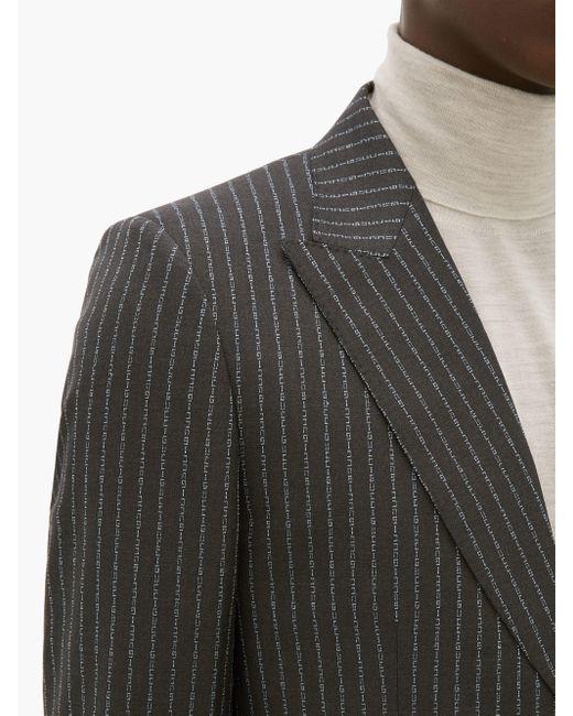 メンズ Gucci Heritage ロゴストライプ ウールスーツ Gray