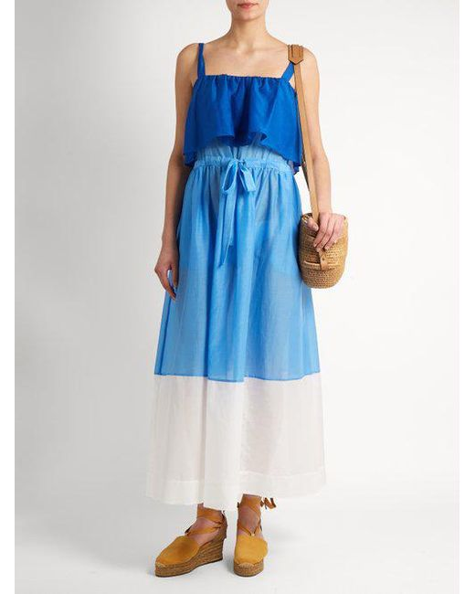 Colour-block cotton and silk-blend midi dress Diane Von F 9avc6ZNis