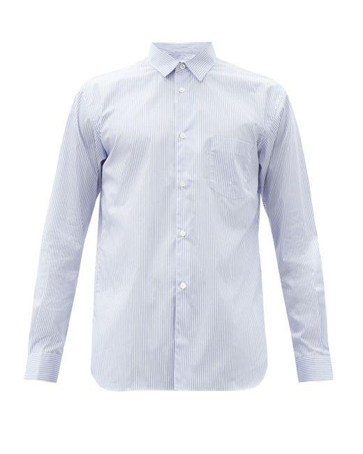 メンズ Comme des Garçons Comme Des Garçons Shirt フォーエバー ストライプ コットンポプリンシャツ Blue