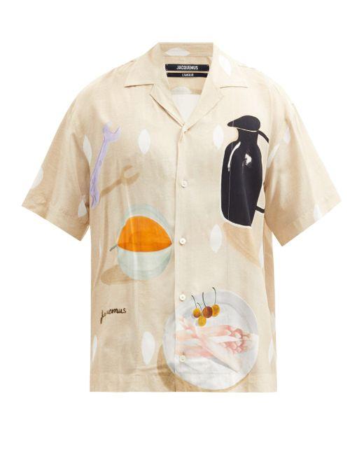 メンズ Jacquemus ジャン スティルライフプリント ポプリンシャツ Multicolor