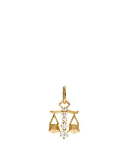 Jade Trau リブラ ダイヤモンド 18kゴールドチャーム Metallic