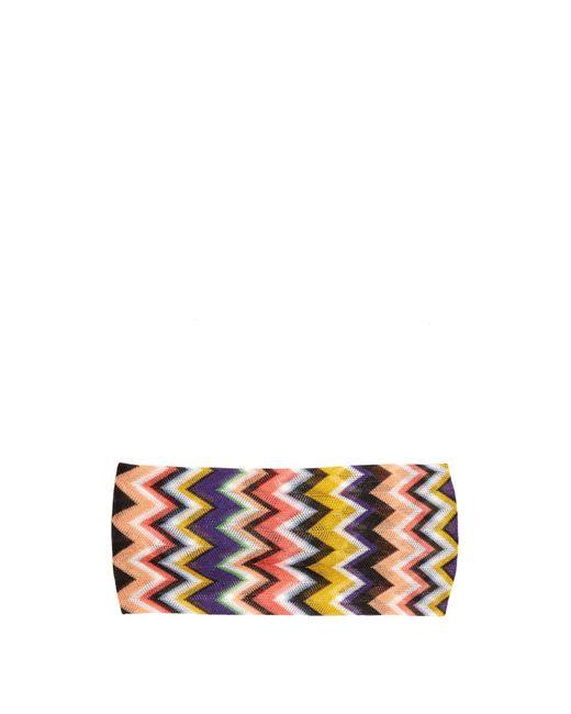 Missoni - Multicolor Multicoloured Zigzag Headband - Lyst