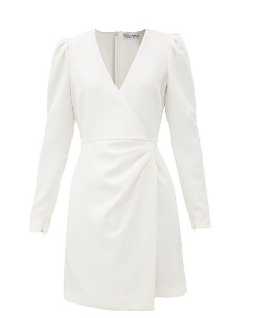 RED Valentino クレープラップドレス White