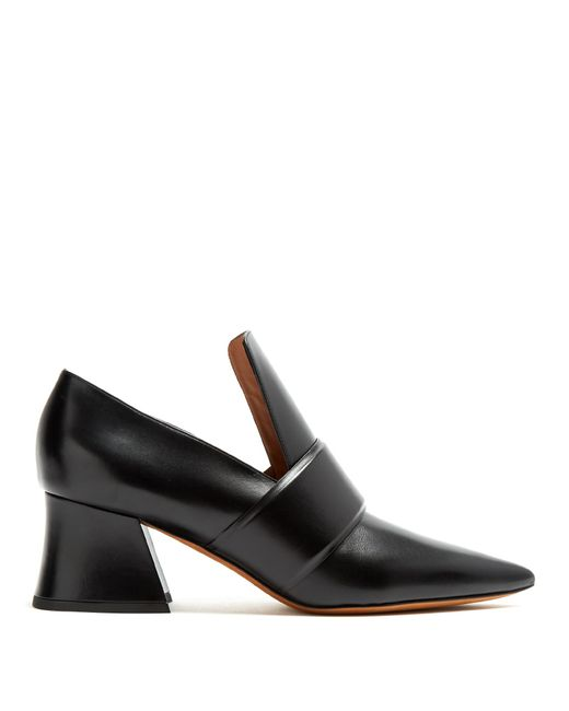 Givenchy | Black Patricia Point-toe Leather Loafers | Lyst