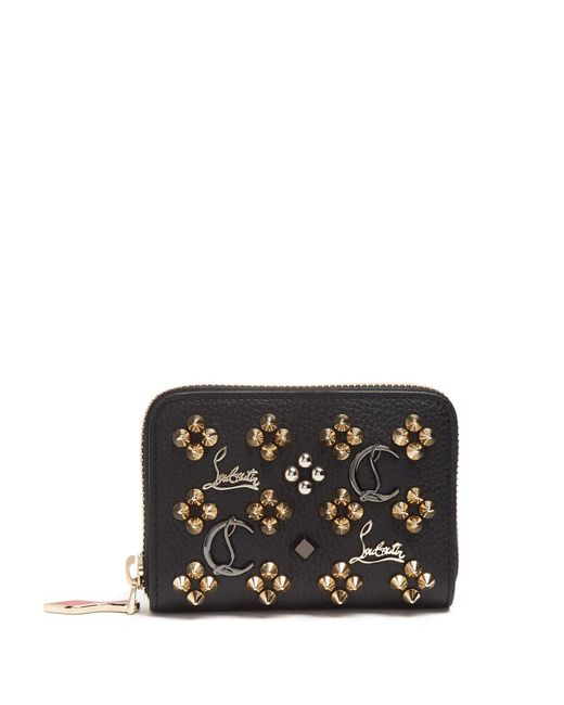 Christian Louboutin - Black Panettone Loubisky Leather Coin Purse - Lyst