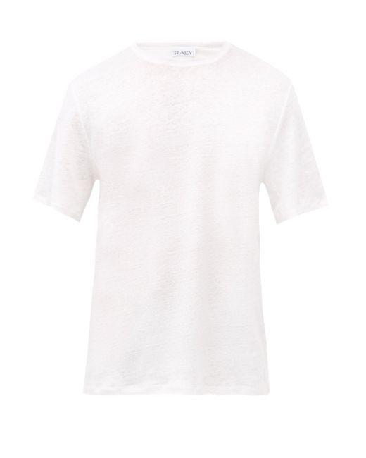 メンズ Raey リネンtシャツ White