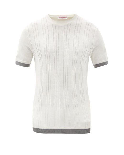 メンズ Orlebar Brown ヒギンス シルクコットンtシャツ Multicolor