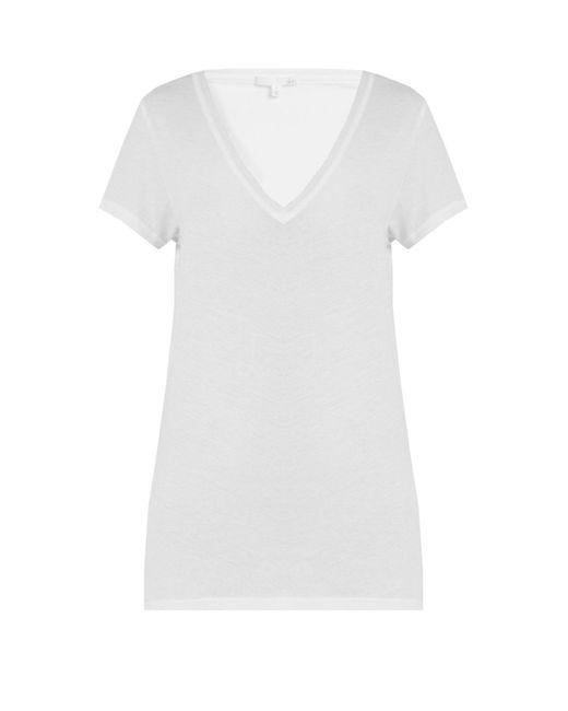 Skin - White V Neck Cotton Pyjama Top - Lyst