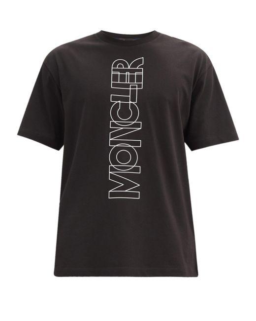 メンズ 3 MONCLER GRENOBLE コットンジャージー ロゴtシャツ Black