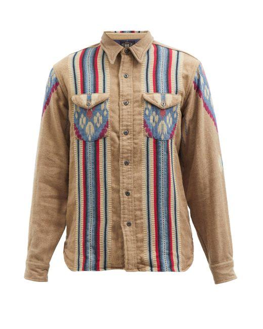 Chemise en jacquard de coton géométrique RRL pour homme en coloris Brown