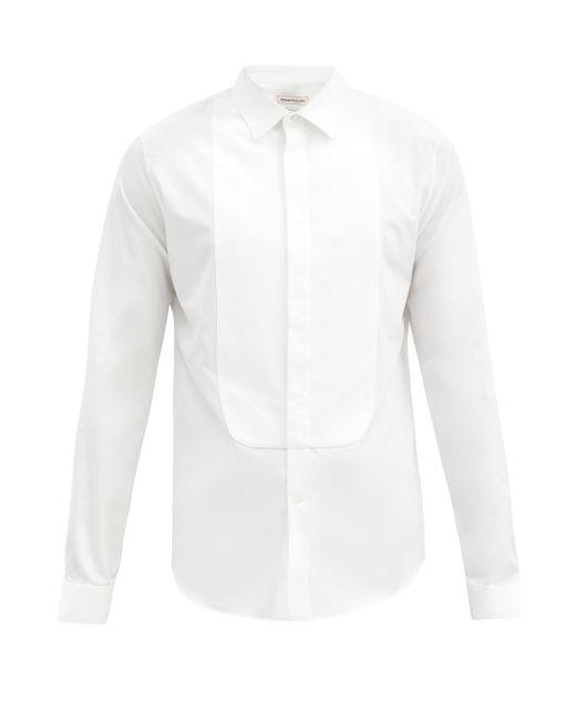 メンズ Alexander McQueen スプレッドカラー コットンポプリン タキシードシャツ White
