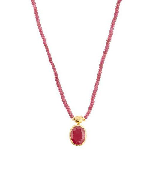 Jade Jagger Ruby & sterling-silver necklace jYsZaft8R