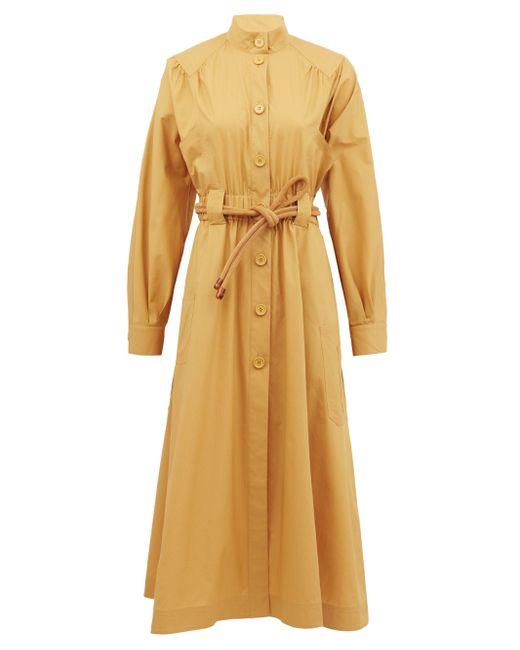 Fendi コットンポプリンシャツドレス Natural