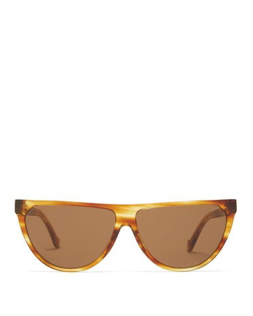 Loewe Dフレーム フラットトップサングラス Multicolor