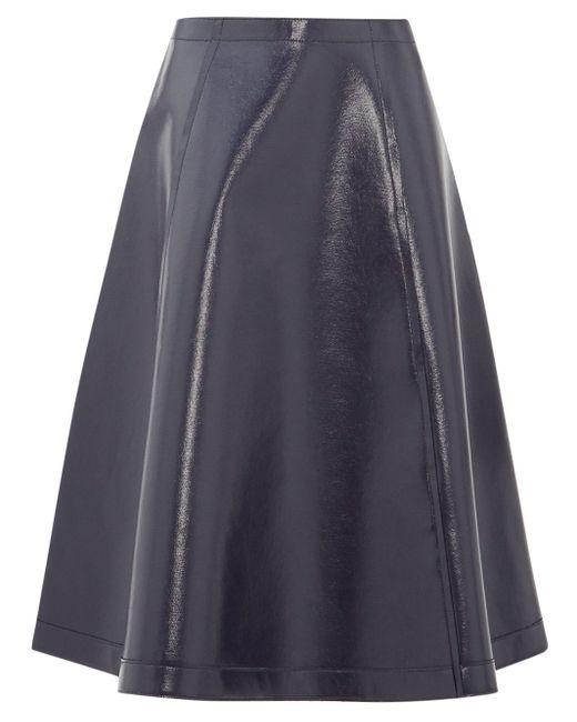 Sara Lanzi コーティング Aラインスカート Blue