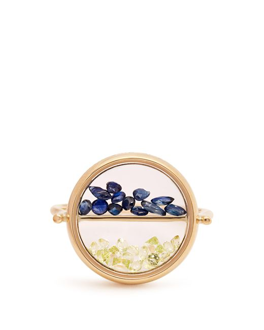 Aurelie Bidermann - Multicolor Sapphire, Peridot & Yellow Gold Ring - Lyst