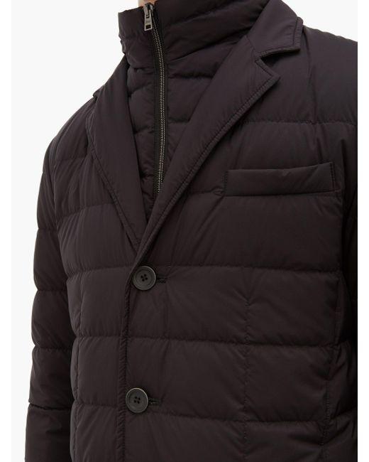 Veste matelassée en duvet à boutonnage simple Herno pour homme en coloris Black