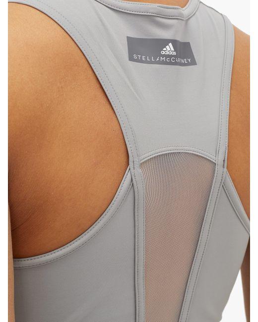 Adidas By Stella McCartney メッシュバック Vネック タンクトップ Gray