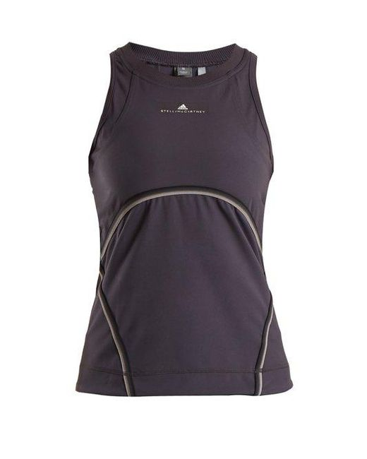 Adidas By Stella McCartney - Gray Cut-out Performance Tank Top - Lyst ... 1b9fb935f