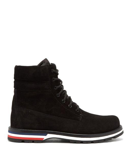 Moncler Black Vancouver Suede Boots for men