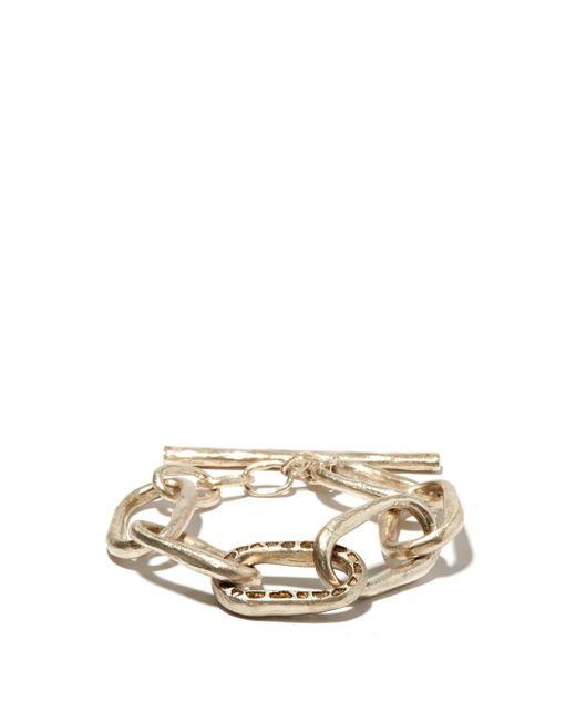 メンズ Parts Of 4 ローマン ラフダイヤモンド スターリングシルバーブレスレット Metallic