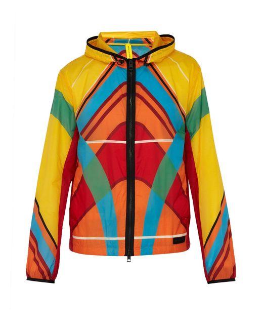5 MONCLER CRAIG GREEN Multicolor Spinner Kite-print Windbreaker Jacket for men