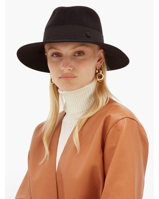 Maison Michel Natural Rose Straw Hat