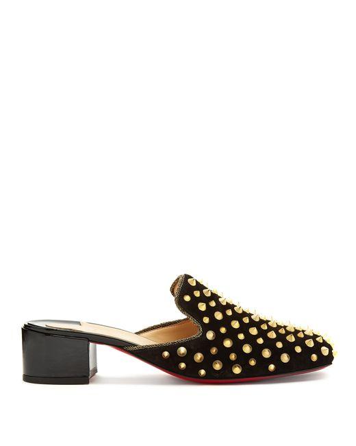 huge discount 2127b 3456d Women's Black Mulaconka 35 Gold Spike Suede Mules